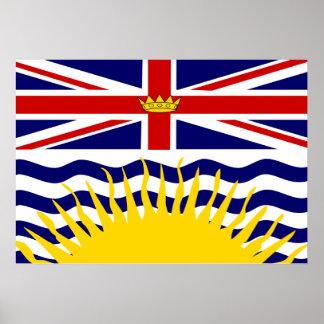 Canada British Columbia Flag Poster