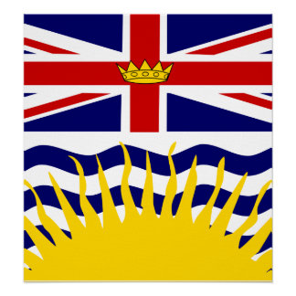 Canada British Columbia High quality Flag Poster