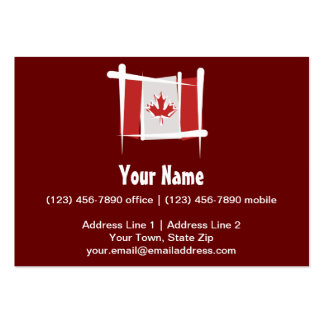 Canada Brush Flag Business Card Templates