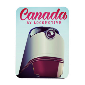 Canada By locomotive 1950s train poster Magnet