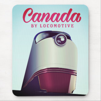 Canada By locomotive 1950s train poster Mouse Pad