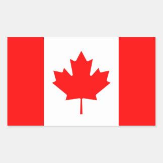 Canada/Canadian Flag Rectangular Sticker