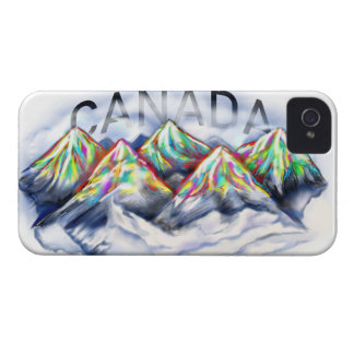 CANADA CANADIAN ROCKIES ABSTRACT COLORFUL MOUNTAIN iPhone 4 CASE