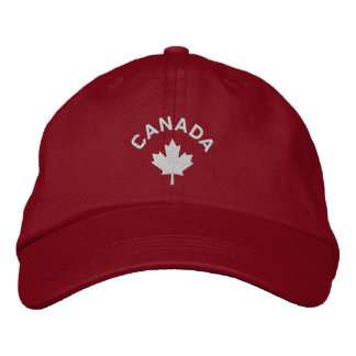 Canada Cap - White Maple Leaf Hat Embroidered Baseball Caps