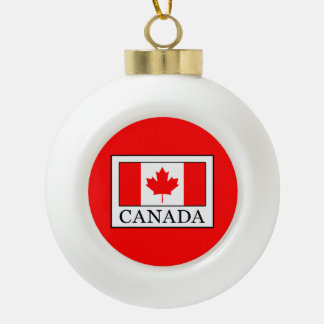 Canada Ceramic Ball Christmas Ornament