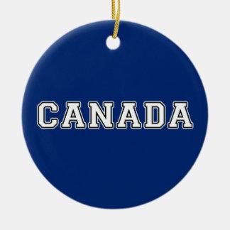 Canada Ceramic Ornament