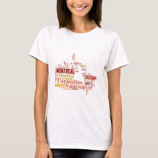 Canada Cities Word Art T-Shirt