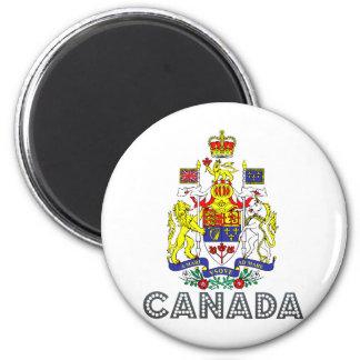 Canada Coat of Arms 6 Cm Round Magnet