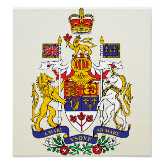 Canada Coat of Arms detail Poster