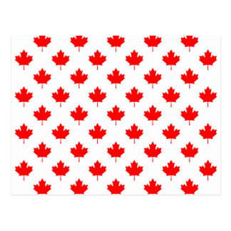 canada country flag symbol maple leaf pattern text postcard