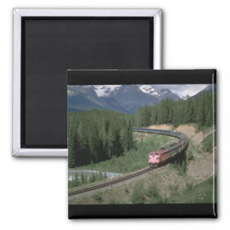 Canada, CP Rail FP-7 #1406_Trains of the World Square Magnet