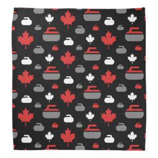 Canada Curling Rocks Bandana