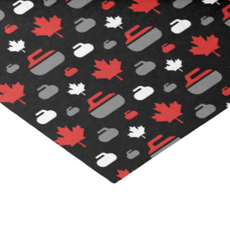 Canada Curling Rocks Tissue Paper