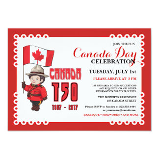 Canada Day 150 BBQ Celebration Invitation