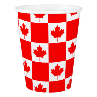 Canada Day Canadian flag small paper party cups