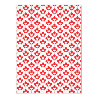 """Canada Day Canadian Maple Leaf and Heart 5.5"""" X 7.5"""" Invitation Card"""