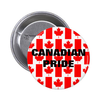 Canada Day Canadian Pride Pattern Flag Button
