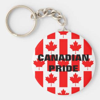 Canada Day Canadian Pride Pattern Flag Keychain