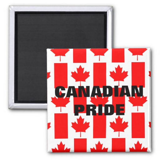 Canada Day Canadian Pride Pattern Flag Magnet