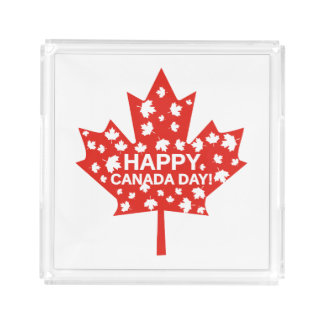 Canada Day Celebration Acrylic Tray