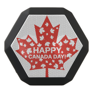 Canada Day Celebration Black Bluetooth Speaker