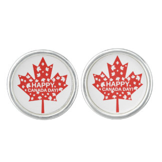 Canada Day Celebration Cuff Links