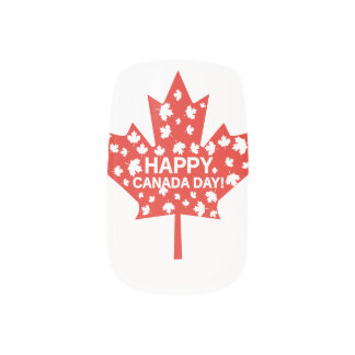 Canada Day Celebration Minx Nail Art