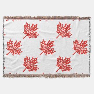 Canada Day Celebration Throw Blanket