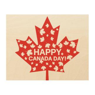 Canada Day Celebration Wood Wall Art
