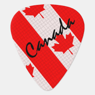 Canada Day maple leaf red & white flag Plectrum