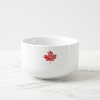 Canada Day maple leaf red & white flag Soup Mug