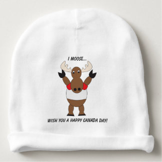 Canada Day Moose Customize Baby Beanie