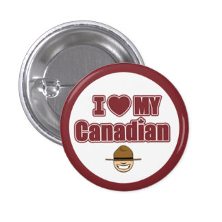 Canada Day - Mountie Pinback Buttons