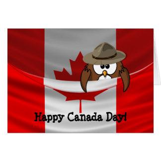 Canada Day owl Card