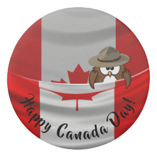 Canada Day owl - eraser