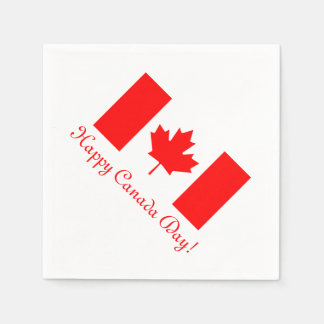 Canada Day paper napkins with Canadian flag Disposable Napkin