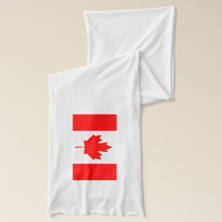 Canada Day scarf with Canadian flag