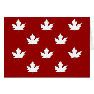 Canada Day White Maple Leaf Pattern Greeting Card