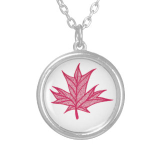 Canada Doodle Round Pendant Necklace