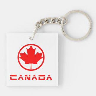 Canada Double-Sided Square Acrylic Key Ring