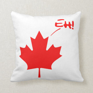 Canada Eh! Funny Canadian Pride Throw Cushion