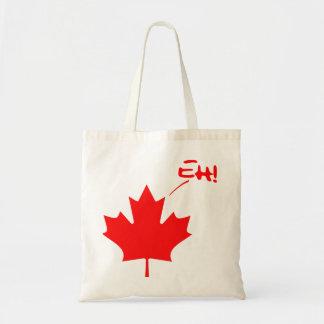 Canada Eh! Funny Canadian Pride Budget Tote Bag