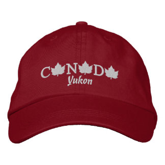Canada Embroidered Red Ball Cap - Yukon Embroidered Hat