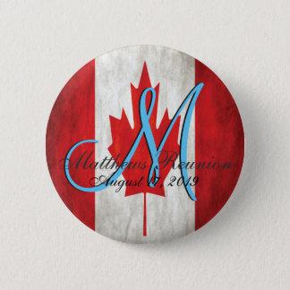 Canada Family Reunion Monogram 6 Cm Round Badge