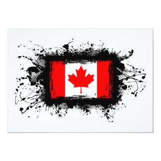 Canada Flag 13 Cm X 18 Cm Invitation Card