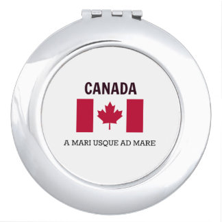 Canada Flag and Motto Compact Mirrors