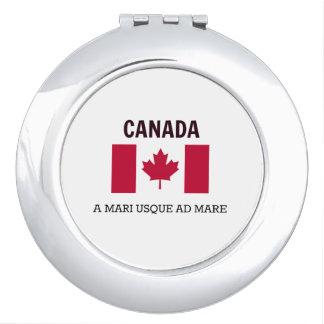 Canada Flag and Motto Makeup Mirror