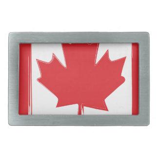 Canada flag belt buckles