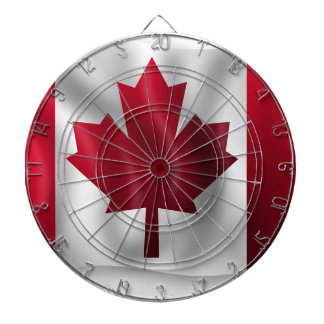 Canada Flag Canadian Country Emblem Leaf Maple Dartboard