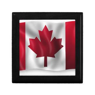 Canada Flag Canadian Country Emblem Leaf Maple Gift Box